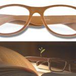 gafas de madera retro