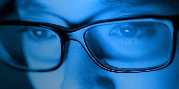 Gafas para ordenador que bloquean los efectos de la Luz Azul