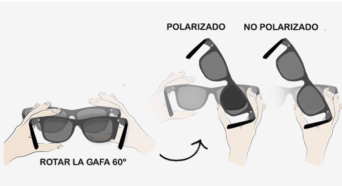 prueba utilizando dos gafas polarizadas