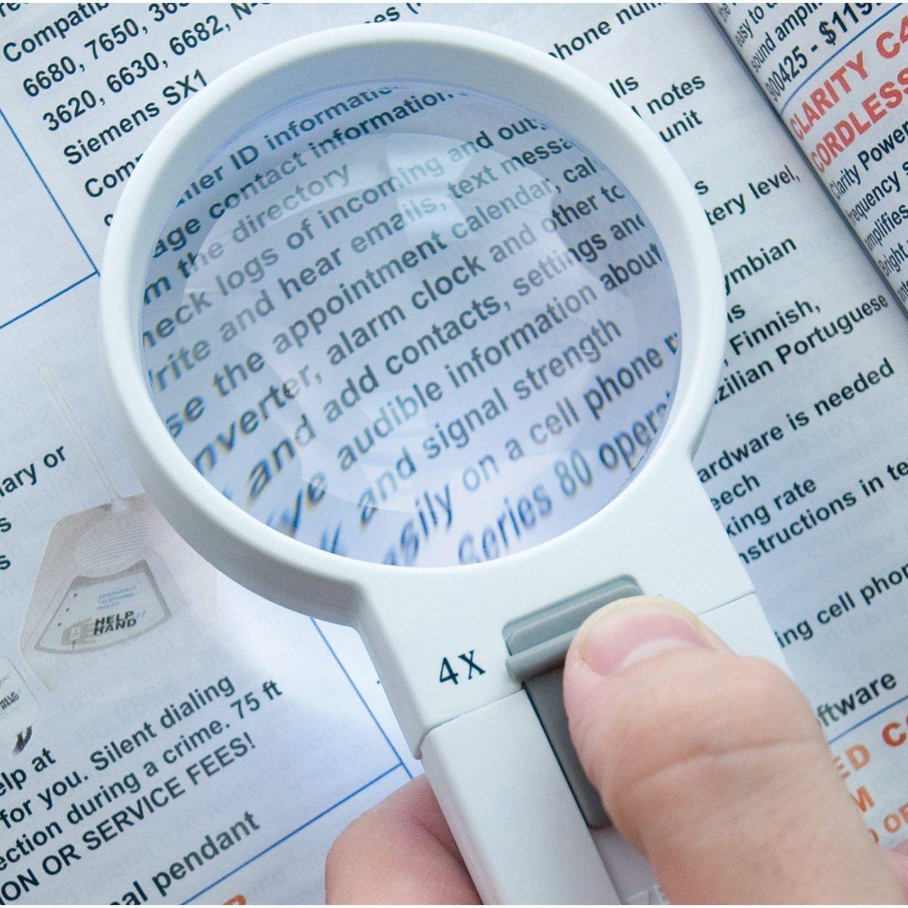 Lupa para lectura si se tiene dificultad para ver la letra pequeña