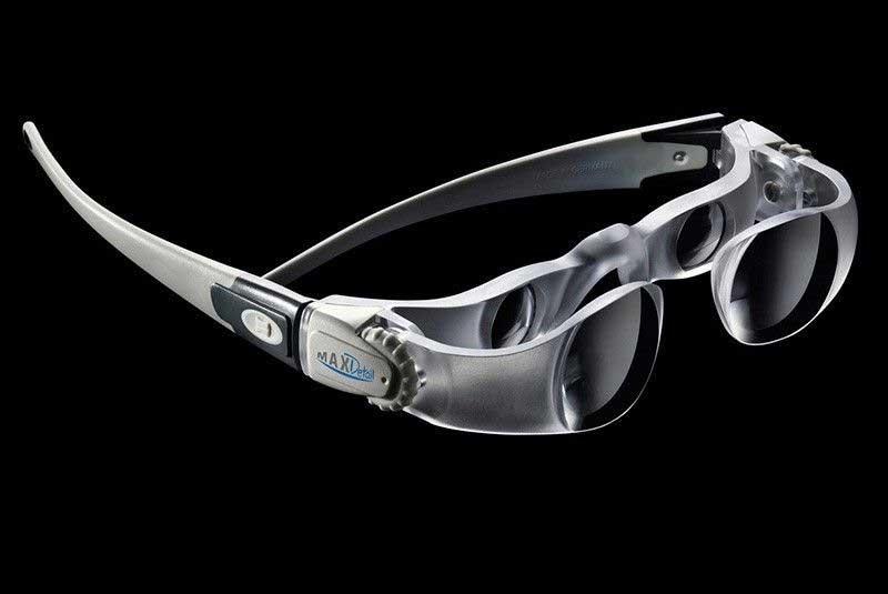 Gafas MaxDetail gran aumento y una gran distancia de trabajo