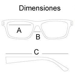 tamaño de las gafas