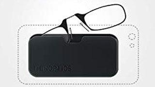 estuche de las gafas para adherir al móvil