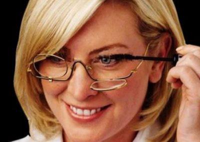 gafas de metal para maquillase