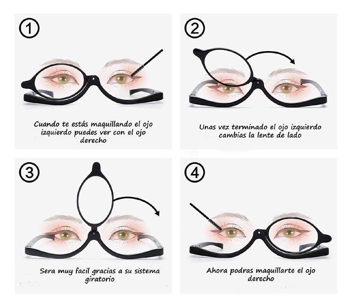 pasas para maquillarse con gafas