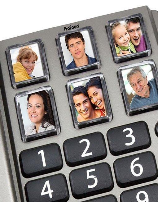 telefono con botones con imagenes para un marcado facil