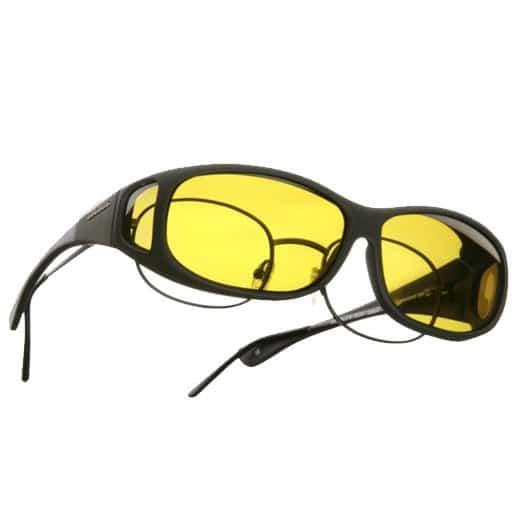 gafas superpuestas color amarillo