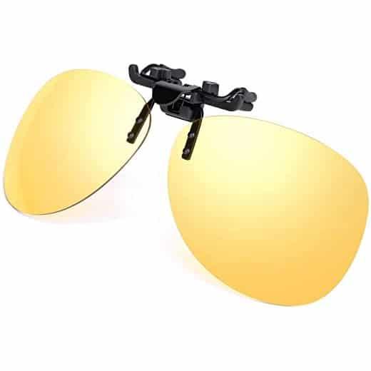 clip on amarillo polarizado