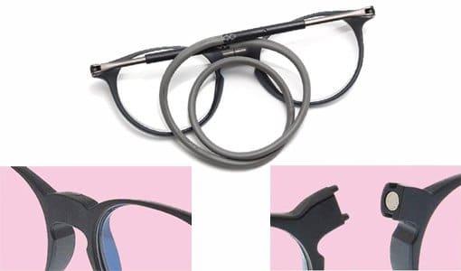 gafas con cierre magnético frontal