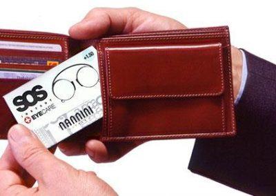 gafas tipo tarjeta de credito